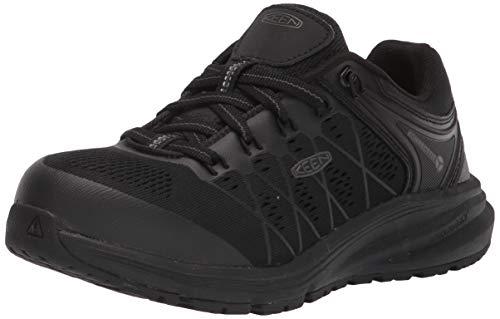 KEEN Utility womens Vista Energy Low Sneakers Composite Toe Work Construction Shoe, Black/Raven, 7.5 Wide US