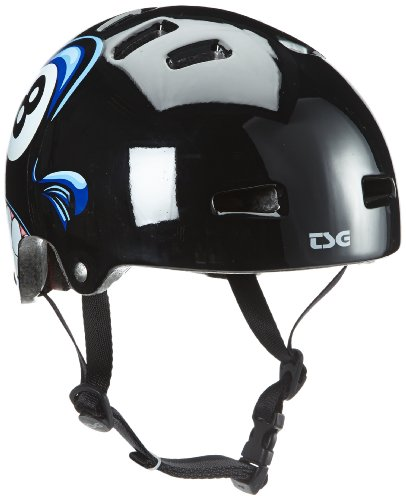 TSG Kinder Helm Helmet Nipper-Graphic-Design-Mini, schwarz, 48-51cm, 750048