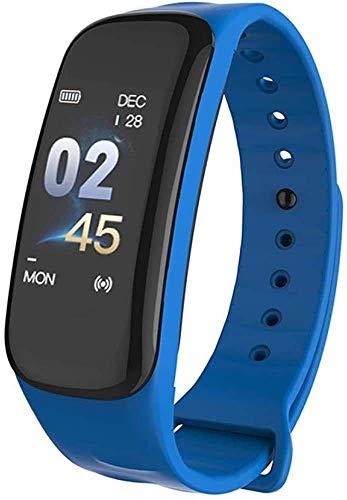WXDP Reloj electronico,0.96In Inteligente Inteligente Pulsera Deportes y Fitness para Hombres SAMRT Seguimiento de la presión Arterial observación del Monitor de
