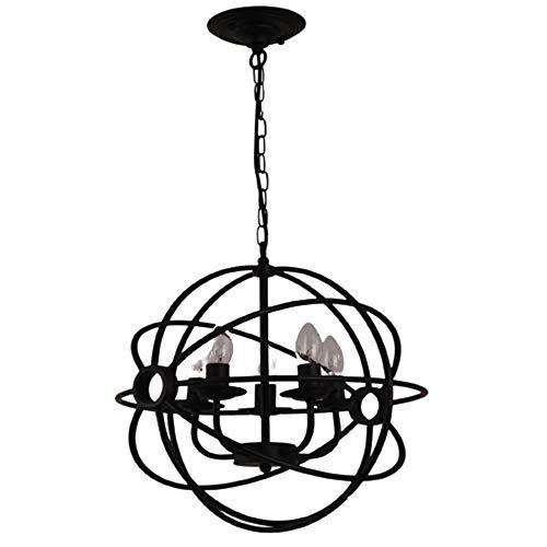 CHENJUNAMZ American Crystal País Retro Bola de la lámpara de Hierro Forjado Pintura Globo del Hierro labrado