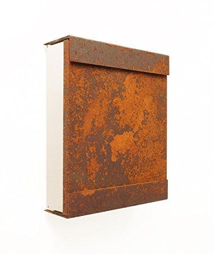 Keilbach Briefkasten glasnost Cortenstahl Eisen 07 2001