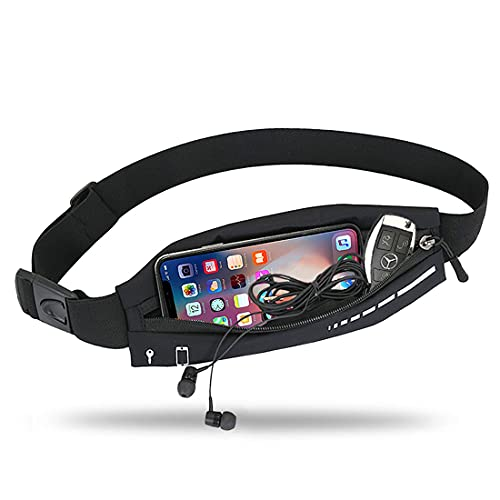 Slim Running Belt for Women & Men,Running Waist Pack Phone Holder,Jogging Workout Fanny Pack Runners Pouch Gear Accessories for iPhone 12 11 Pro Max XS XR 8 7 Plus Traveling Gift