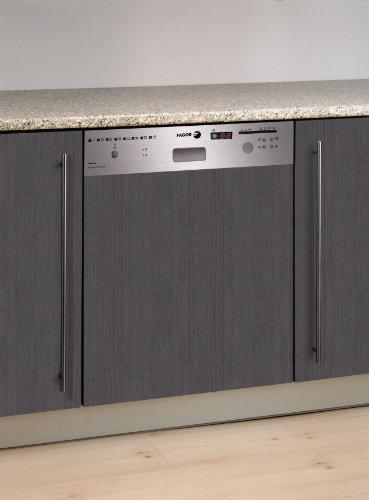 Fagor LVF17IX - Lavavajillas (Totalmente integrado, Gris, Acero inoxidable, Frío/Caliente, 46 Db, A, A)