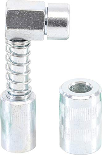BGS 9403 | Mundstück für Fettpresse | abgewinkelt | Schmiermittelaufsatz | Hand Fettpresse, Fettpressenrohr Adapter | Schmierpresse Anschluss Nippel