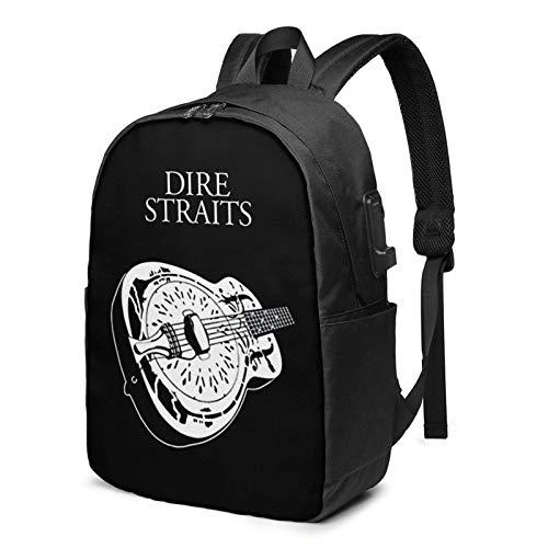 XCNGG Guitar Business Laptop School Bookbag Mochila de Viaje con Puerto de Carga USB y Puerto para Auriculares de 17 Pulgadas