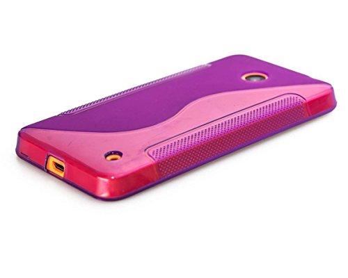 caseroxx TPU-Hülle für Nokia Lumia 630, Handy Hülle Tasche (TPU-Hülle in lila)