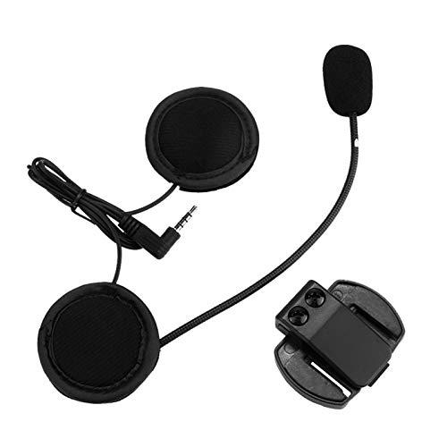 Interphone Headset, V6/V4 Bluetooth Interphone Headset Casco de Motocicleta Interphone Auricular Bluetooth Apto para Casco Integral y de Moto Integral