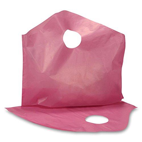250ea - 12 X 11 X 4 2mil Hdpe Pink Super Wave Handle Bag