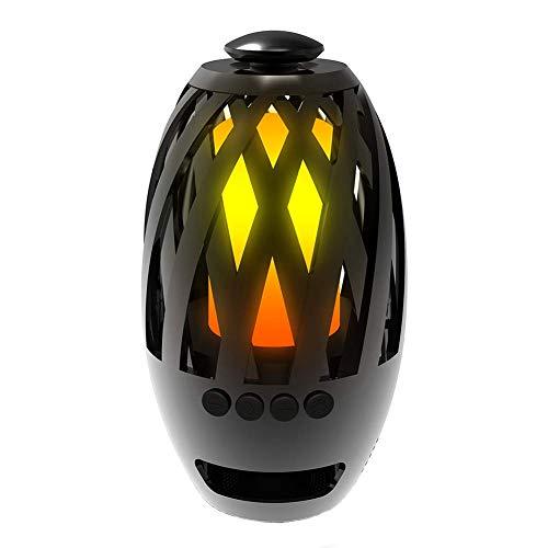 Bluetooth-luidspreker, sfeerlamp, vlammenlicht, stereo, subwoofer, mini, draadloos, draagbaar, multifunctioneel, USB, led, party, Kerstmis, muziek, camping.