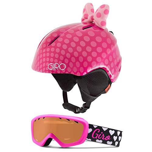 Giro Launch Kids Snow Helmet Goggle Combo Pink Bow Polka Dots/Magenta Hearts XS (48.5-52CM)