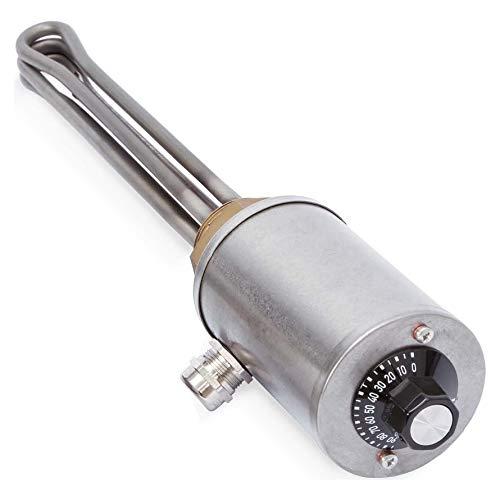 Schultze Einschraubheizkörper G11/2 EHK G112A005 6.0kW, Regler, IP54 Elektro-Heizflansch für Warmwasserspeicher 4010202606043
