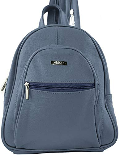 GENUINE LEATHER BACKPACK (3748) Blue