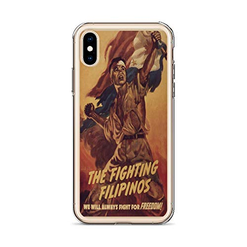 Vintage Poster - The Fighting Filipinos 1215 - iPhone X Phone Case