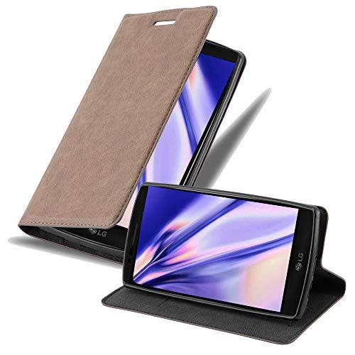 Cadorabo Hülle für LG Flex 2 in Kaffee BRAUN - Handyhülle mit Magnetverschluss, Standfunktion & Kartenfach - Hülle Cover Schutzhülle Etui Tasche Book Klapp Style