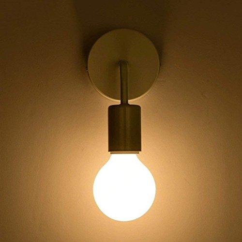 DSJ Moderne eenvoudige Nordic wandlamp persoonlijkheid creatieve ijzeren gang nachtkastje badkamer gang energiebesparende traplichten, zwart