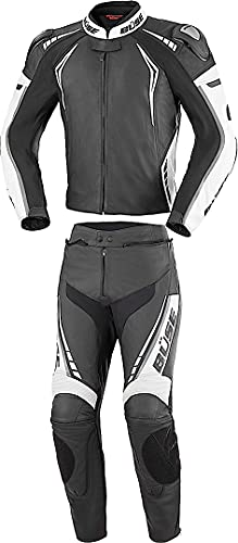 Büse Silverstone Pro 2-Teiler Motorrad Lederkombi 52 Schwarz/Weiß
