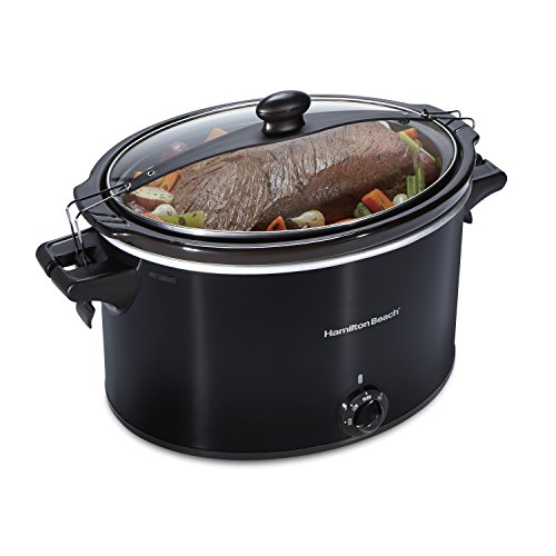 Hamilton Beach 33195 Extra-Large Stay or Go Slow Cooker, 10 Quart Capacity, Black