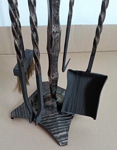 Begleitersatz 5 Stück Feuer Weinlese-Kaminplatz Werkzeuge Kamin Feuerwerkzeuge Set