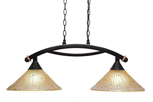 Filament Design Concord 2 Light Ceiling Black Copper Incandescent Pendant