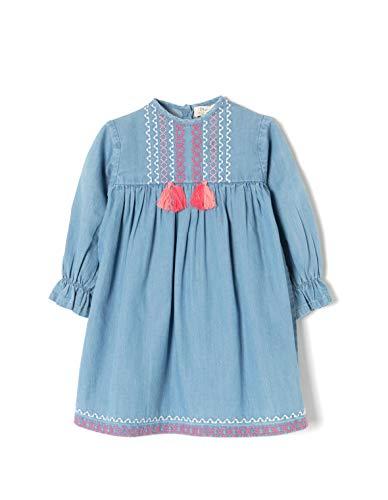 ZIPPY ZTG0501_455_2 Vestido, Azul (Medium Blue Denim 2565), ((Tamaño del Fabricante:12/18M) para Bebés