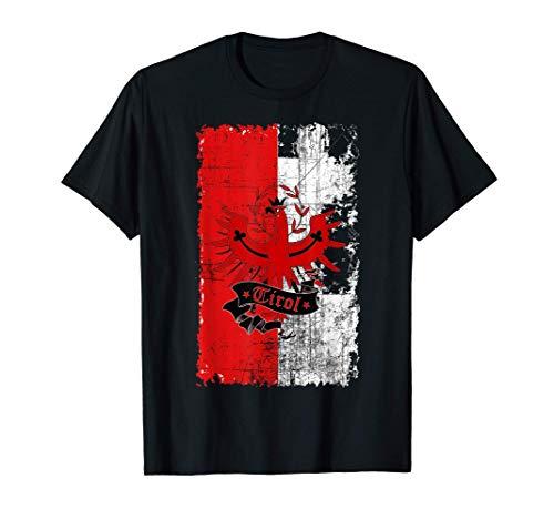 Tirol T-Shirt mit Fahne im Retro Style mit Fahne T-Shirt