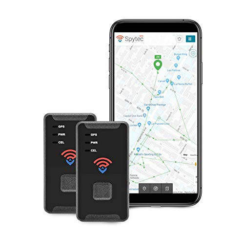 Spytec GL300MA GPS Tracker- 4G LTE Mini Real Time GPS Tracking Device for Vehicles, Kids, Pets, Spouses, Seniors, Luggage, Equipment, Valuables - Pack of 2