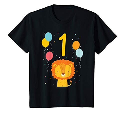 Kinder 1. Geburtstag Kindergeburtstag Erster Geburtstag Löwe T-Shirt