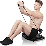GARTIO Abs and Full Body Exercises Gym Equipment, All in 1 Core Strength & Abdominal Trainers with Resistance Bands, 3 Adjusted Resistance, Workout Aerobic Home Machine for Men Women (Black)