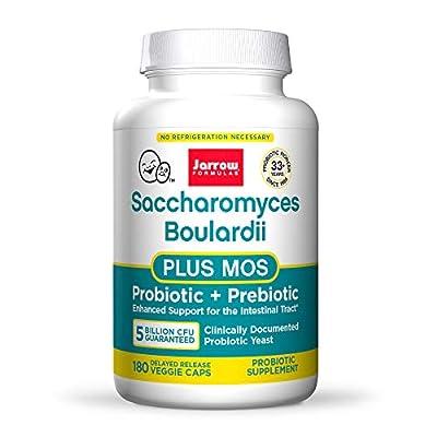 Jarrow Formulas Saccharomyces Boulardii Plus MOS Vegetarian Capsules, 180-Count