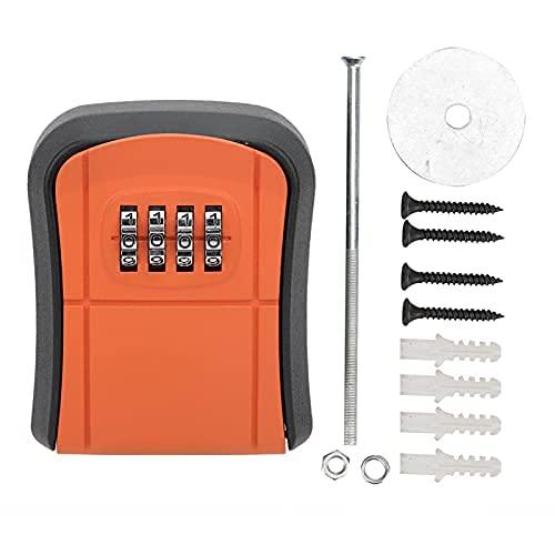 Caja de seguridad de combinación al aire libre Caja de seguridad montada en la pared Código de almacenamiento de metal Home Anti‑Theft(100 x 1