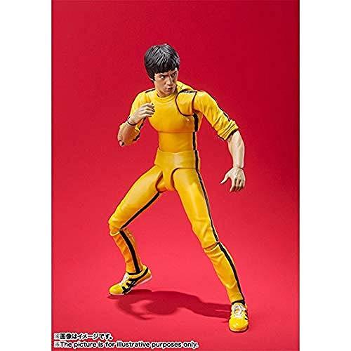 KIJIGHG Bruce Lee Anime Figura Modelo Personaje PVC Vinilo decoracion figurita Anime Personaje de Dibujos Animados modelo-15CM
