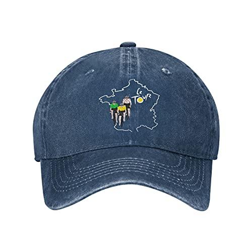 Jopath Le Tour of France-2 - Gorra de béisbol unisex de algodón lavable, azul marino, Talla única