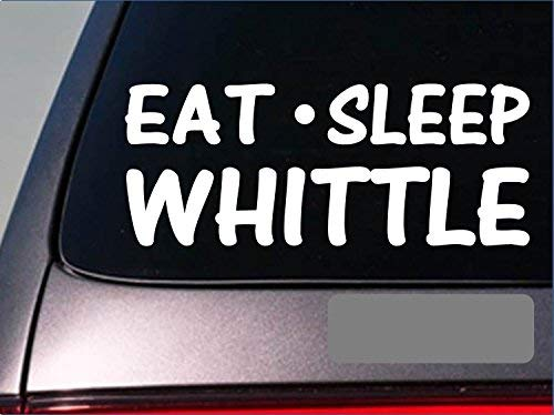 Tollyee Car Decals and Stickers Eet Sleep Whittle Sticker *H37* 8