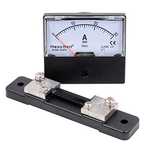 Heschen Rechteck-Panel montiert Stromzähler Amperemeter Tester DH-670 DC 0-30A Klasse 2,0 mit Shunt