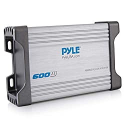 professional Pyle 4-Channel Marine Receiver Amplifier – Waterproof and Weatherproof Boat Audio Subwoofer…