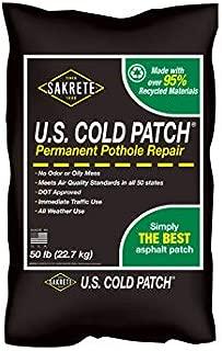 Sakrete U.S. Cold Patch, 50 lb, Bag, Black