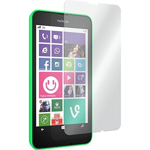 PhoneNatic 1 x Glas-Folie klar kompatibel mit Nokia Lumia 635 - Panzerglas für Nokia Lumia 635