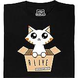 Maglietta che si illumina al buio Gatto di Schrödinger: Modello ragazza Taglia XL
