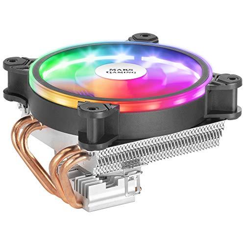 Mars Gaming MCPU220,Raffreddatore per CPU Nero, DUAL ARGB, PWM Silenzioso TDP 140W