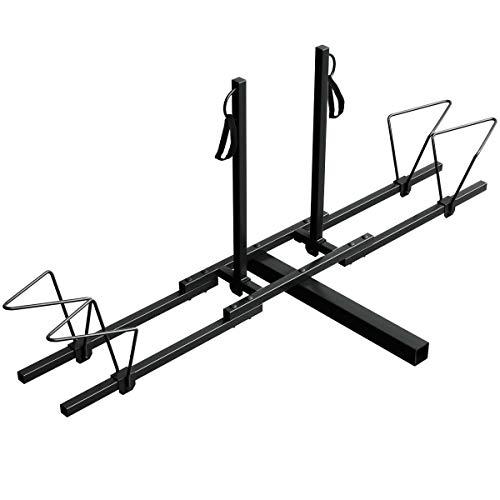 "Goplus 2 Mountain Bike Rack Hitch Carrier, Upright Hitch Mounted Bike Rack Platform Hitch Rack 2"" Rear for Truck SUV"