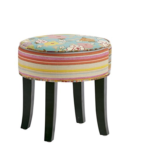 dasmöbelwerk Hocker Sitzhocker Würfel Stoff Patchwork bunt Füße Kolonial Möbel French Style