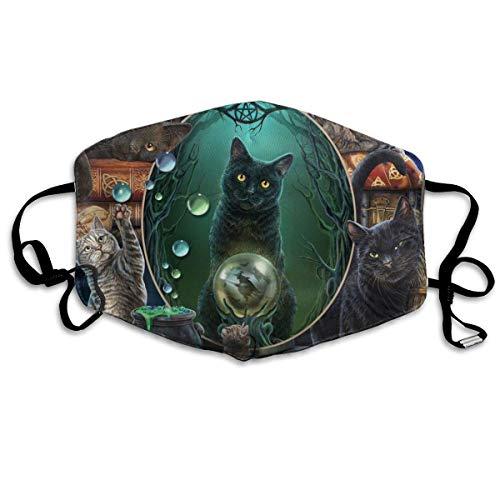 Multifunktionale Gesichtsschutzhülle,Ise Der Hexen Katzen Im Zauberspiegel Lustige Katze Gedruckt Unisex Waschbar Wiederverwendbare Gesichtsdekorationen Für Den Persönlichen Schutz