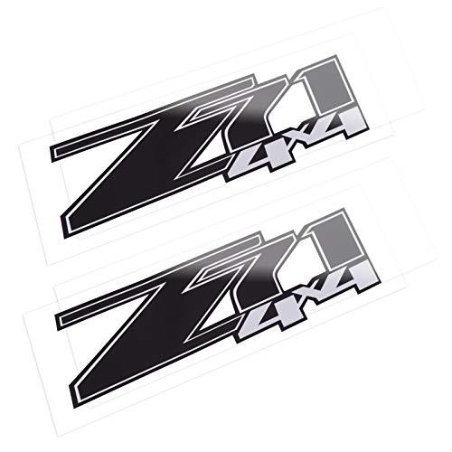 Z71 4x4 Decals Stickers for Chevrolet Silverado (2007-2013) 1500 2500 HD 2Pcs (Black)