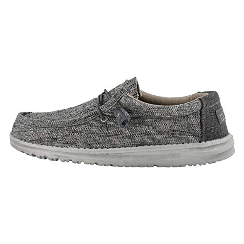 Hey Dude Men's Wally Woven Casual Shoe Carbon 10 Medium US