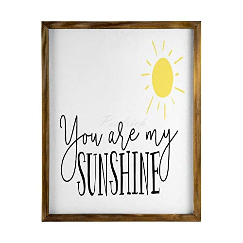 Scott397House Wood Framed Art Wall Decor, You Are My Sunshine,Sun Wooden Signs Decorative Wood Plaques Wall Artwork Decoration 40x50cm