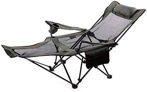 AJH Camping Liege Liegestuhl mit Rucksack Klappstuhl mit eingebauter Kopfstütze und Fußstütze Oxford Stoff Material Robust Langlebig Für Outdoor Camping Wandern