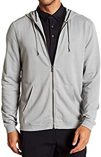John Varvatos Men's Long Sleeve Classic Zip Front Hoodie