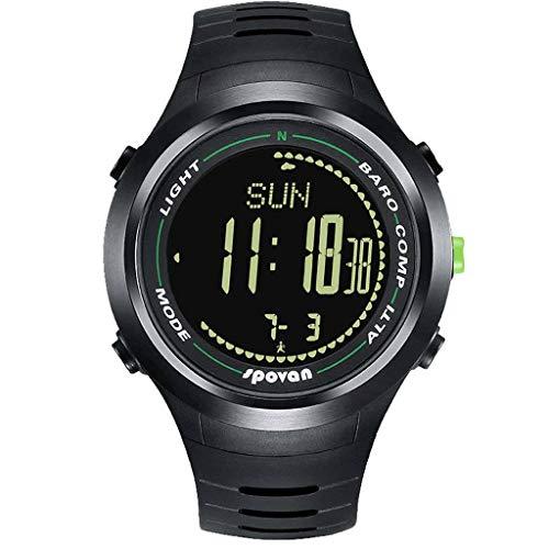 HSJT Smartwatch Pantalla Táctil Completa Smart Watch IP68 Impermeable con GPS SMS Podómetro Pulsómetro Monitor De Sueño Reloj Inteligente para Mujer Hombre-B