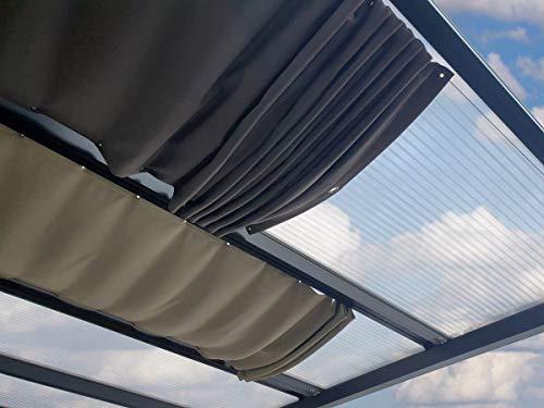 ACRYLSHOP24 Terrassenbeschattung | Beschattung individuell auf Maß | Seilspannmarkise inkl. Montagematerial | Farbe: Graphite