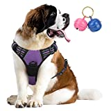 Belababy No Pull Dog Vest Harness Front Clip Handle, Reflective Easy Control Outdoor Walking Training Mini...